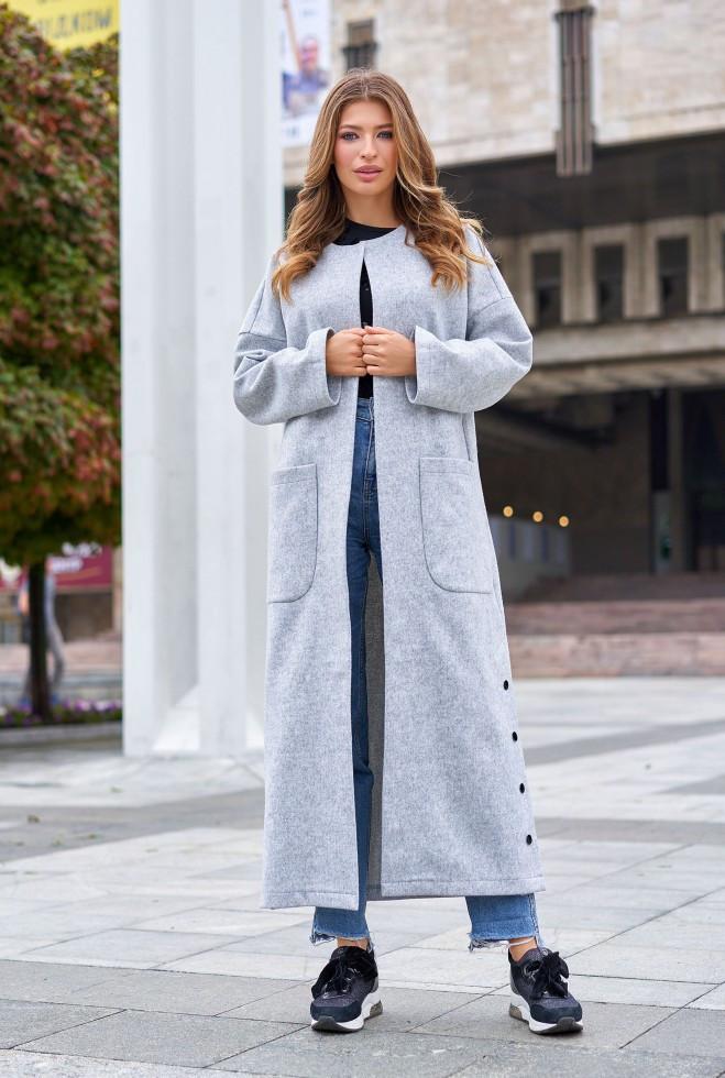 Облегченное пальто Мириам серый s