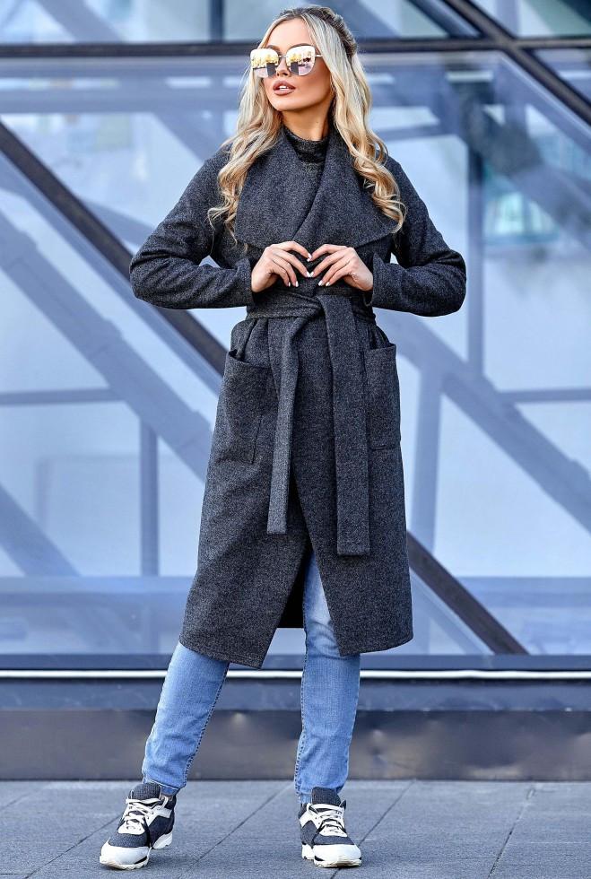 Облегченное пальто Мейли Графит xl