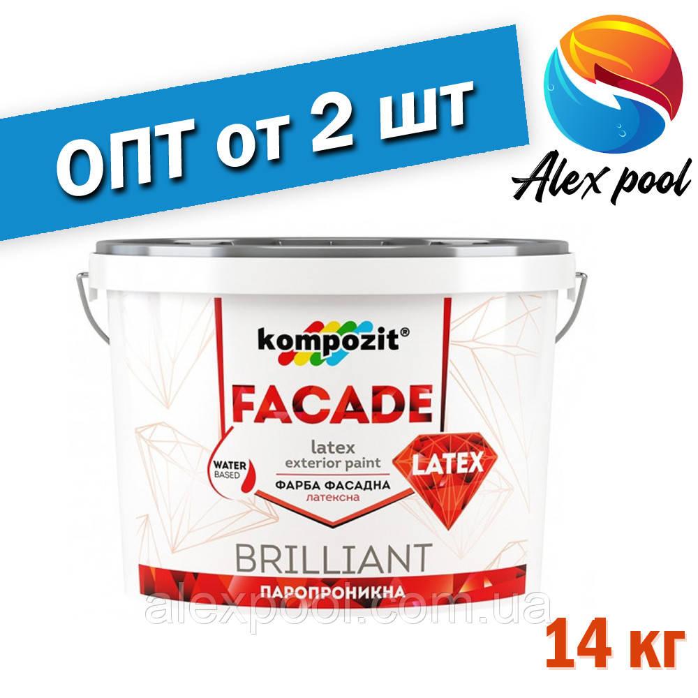 Kompozit FACADE LATEX 14 кг - акрилова фасадна фарба для фарбування мінеральних поверхонь