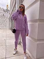 Шикарный прогулочный вязанный костюм, фото 1