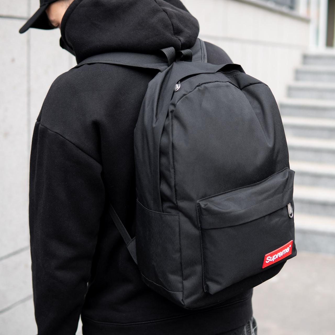 Рюкзак мужской городской SUPREME  спортивный черный, мужской рюкзак городской для ноутбука, рюкзак роллтоп