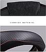 Чехол оплетка Cool на руль для автомобиля Ford натуральная кожа, фото 2