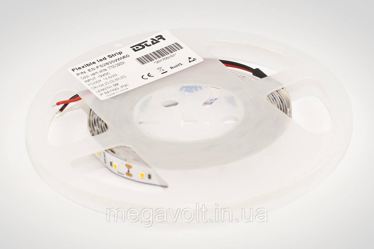 Светодиодная лента ESTAR SMD 2835/60 (IP20) premium 12V тёпло-белая (2700-2900К)
