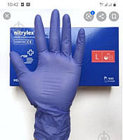 """Рукавички нітрилові без пудри """"Medicom (розмір L) (100 шт,50 пар) чорні"""