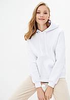 Худи женский оверсайз тёплый 01, цвет белый