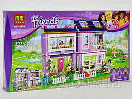 Детский конструктор Дом Эммы для девочек 731 деталь Детский игровой набор подарок девочке