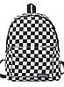 Рюкзак міський в клітку шахматна дошка, чорно-білий 40х30х12см,універсал