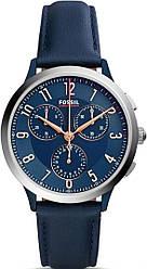 Часы наручные женские FOSSIL CH3072 кварцевые, кожаный ремешок, синие, США