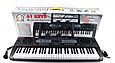 Пианино синтезатор 61 клавиша. 200 ритм, 200 тон, 60 демо. Микрофон, блок пит, подставка для нот MQ6130, фото 2