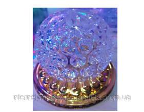 Лампа шар на золотой подставке RGB (RD-5002) (50)