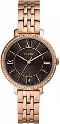 Часы наручные женские FOSSIL ES4723 кварцевые, на браслете, цвет розового золота, США