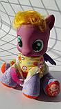 Лошадка Little Pony мягконабивная, 21см, музыка, в рюкзаке ZT9922, фото 3