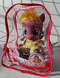 Лошадка Little Pony мягконабивная, 21см, музыка, в рюкзаке ZT9922, фото 2