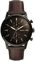 Часы наручные мужски FOSSIL FS5437 кварцевые, ремешок из кожи, США