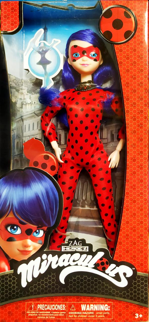"""Шарнирная кукла """"Леди баг"""" 28см, с густыми волосами из мультика """"Леди Баг и супер кот"""""""