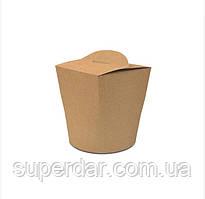 Коробка ВОК 85х85х93 мм длялапши і салатів, морозива 600 мл Крафт (ящ.: 750 шт)
