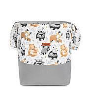 Текстильная корзина для игрушек Sensillo Medium Szopy Szare, фото 1
