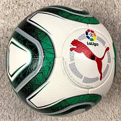 Футбольный мяч Ла Лига бело-зеленый реплика