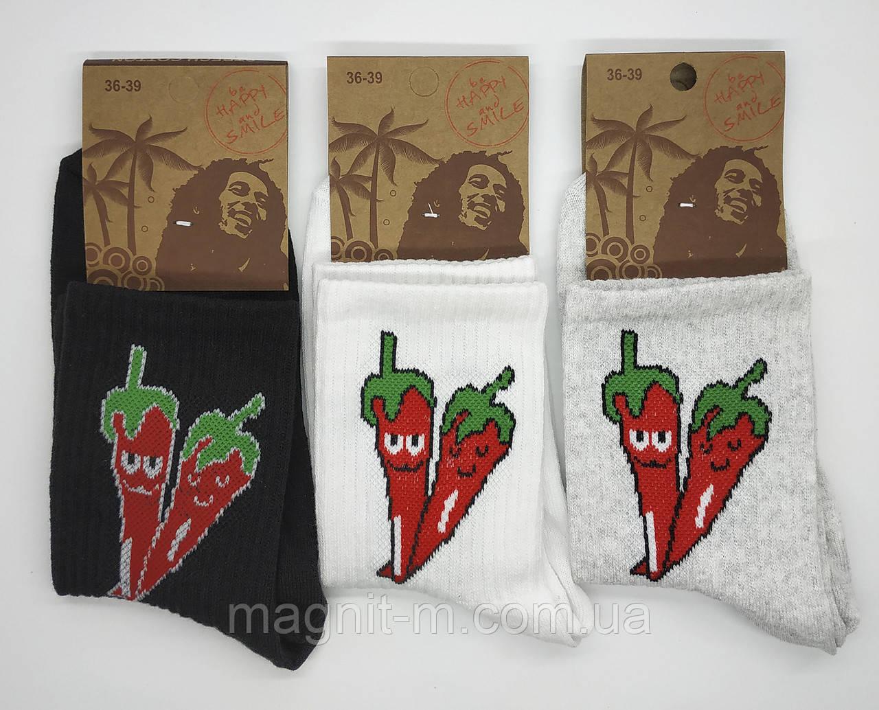 """Шкарпетки чоловічі середньої висоти """"Перчики""""."""