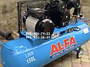 Компрессор воздушный AlFa ALC150-2 масляный 150л 740л/мин ременной, фото 2