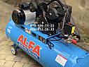 Компрессор воздушный AlFa ALC150-2 масляный 150л 740л/мин ременной, фото 5