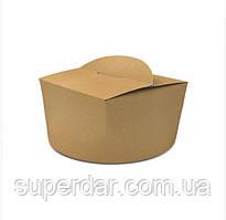 Коробка ВОК 120х120х80 мм для локшини і салатів, морозива 1200 мл Крафт (ящ.: 300 шт)