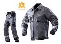 Костюм рабочий AURUM куртка и брюки из хлопка Серый, 40, фото 1