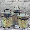Набор круглых сундуков для украшений
