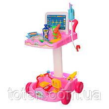 Детский игровой набор Доктор с тележкой на 36 предметов  606-1-5 Розовый