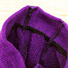 Колготки детские махровые с рисунком MALVA 480 16р фиолетовые в горох 20038731, фото 3