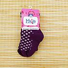 Колготки детские махровые с рисунком MALVA 480 16р фиолетовые в горох 20038731, фото 2