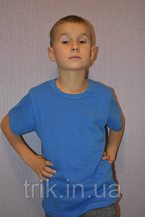 Футболка голубая для мальчиков бейка средняя, фото 2