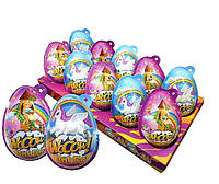 Яйцо пластиковое Mini WOOOW egg 30г с игрушкой-сюрпризом и конфетами для девочки, 14 шт.