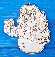 Игрушка на елку с символом года. Новогодние елочные игрушки из фанеры. Новый год 2021. Год Быка