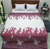 Комплект постільної білизни бязь Голд Березневі коти, фото 1