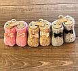 Дитячі шкарпетки, махрові вязані носки для хлопчиків та дівчат однотонні з бнтиком. Розмір 0. Асорті, фото 2