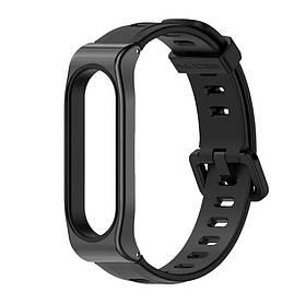 Силіконовий ремінець Primo Mijobs Sport для фітнес браслета Xiaomi Mi Smart Band 5 - Black