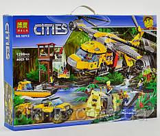 """Гігантський конструктор """"Вертоліт для доставки вантажів в джунглі"""" 1298 деталей. Дитячий ігровий набір"""