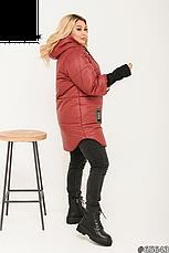 Куртка женская демисезонная с капюшоном размеры:48-62, фото 2