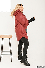 Куртка жіноча демісезонна з капюшоном розміри:48-62, фото 2