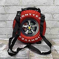 Рюкзак детский 3D колесо красное
