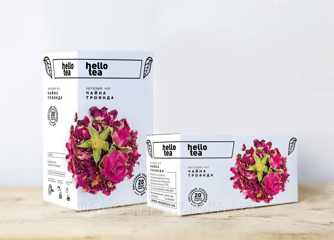 Чай пакетированный Hello tea Чайная роза 20 шт. Чёрный