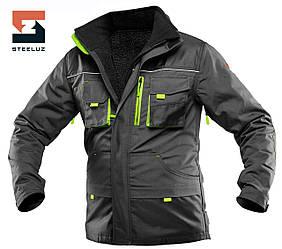 Куртка робоча зі знімною утепленою підкладкою SteelUZ 4S з салатовою обробкою, спецодяг