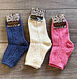Теплі жіночі шкарпетки Kardesler з вязаним принтом, вовна лами однотонні мікс кольорів розмір 35-40, фото 3