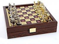 Шахматы Manopoulos Византийская империя в деревянном футляре 20х20см, фото 1