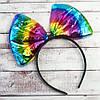 Бант большой на обруче радуга, фото 2