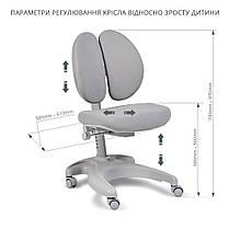 Комплект для школьника 👨🏫 парта-трансформер Fundesk Colore Grey + эргономичное кресло FunDesk Solerte Blue, фото 2
