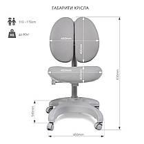 Комплект для школьника 👨🏫 парта-трансформер Fundesk Colore Grey + эргономичное кресло FunDesk Solerte Blue, фото 3