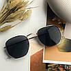 Солнцезащитные очки черные square hexagonal женские квадратные, фото 3