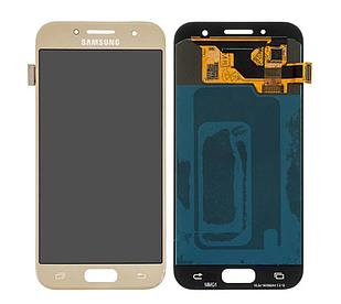 Модуль для Samsung Galaxy A3, Samsung A320, золотистый, дисплей + сенсор
